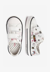 Next - WHITE BADGES TOUCH FASTENING TRAINERS (YOUNGER) - Baskets basses - white - 1