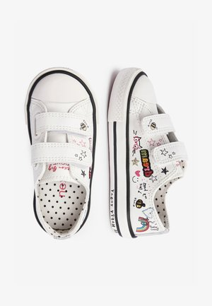 WHITE BADGES TOUCH FASTENING TRAINERS (YOUNGER) - Baskets basses - white