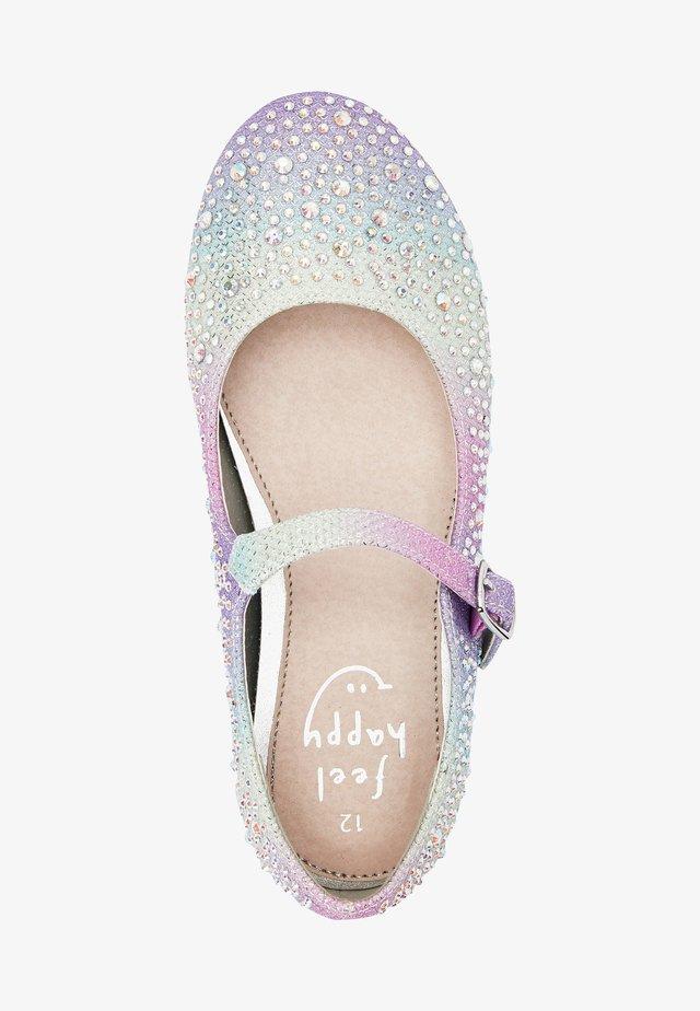 MARY JANE  - Ankle strap ballet pumps - mottled light pink