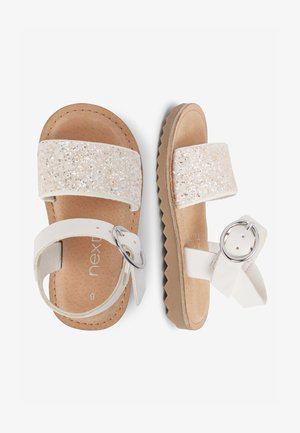 BLACK BUCKLE SANDALS (YOUNGER) - Sandales - white