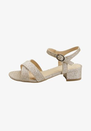 GOLD GLIITER HEEL SANDALS (OLDER) - Sandály - gold