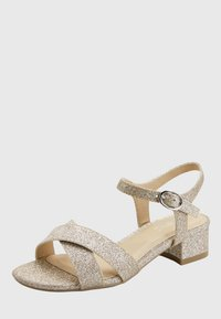 Next - GOLD GLIITER HEEL SANDALS (OLDER) - Sandalen - gold - 2