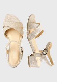 Next - GOLD GLIITER HEEL SANDALS (OLDER) - Sandalen - gold - 1