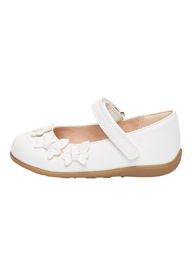 WHITE BUTTERFLY MARY JANE SHOES (YOUNGER) - Ballerinaskor med remmar - white