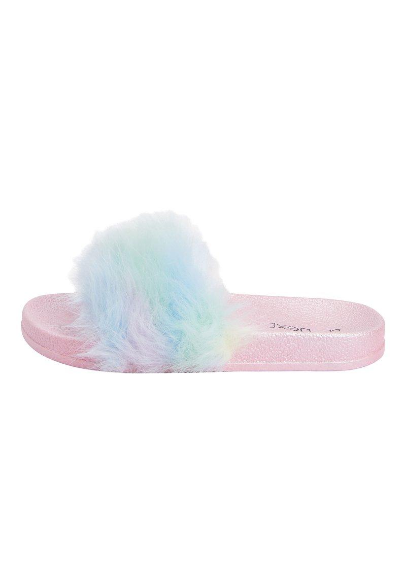 Next - MULTI FAUX FUR SLIDERS (OLDER) - Slippers - pink
