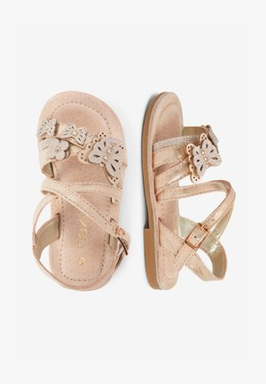MULTI PASTEL 3D BUTTERFLY SANDALS (YOUNGER) - Sandals - gold