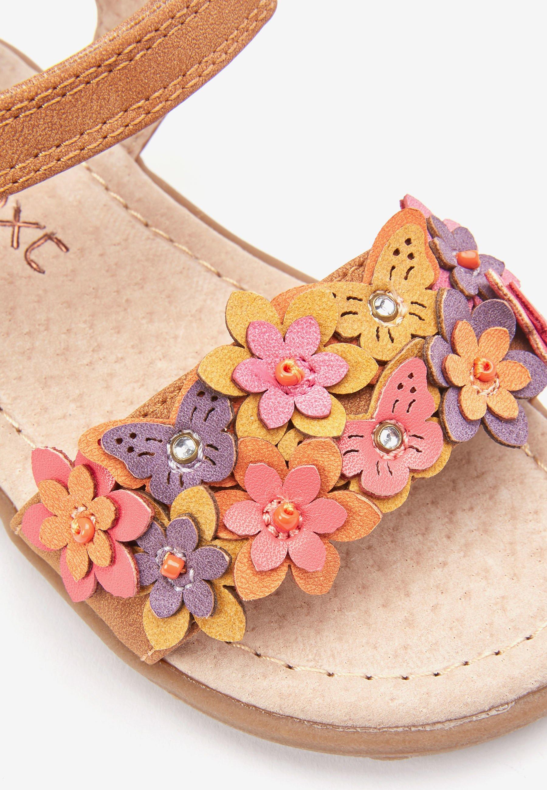 Next PINK 3D FLOWER SANDALS (YOUNGER) - Sandały trekkingowe - brown