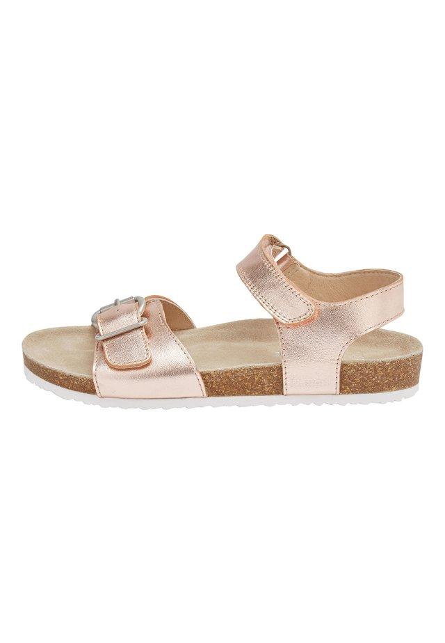 WHITE CORKBED SANDALS (OLDER) - Sandals - gold
