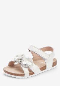 Next - PINK CORKBED FLOWER SANDALS (YOUNGER) - Walking sandals - white - 2
