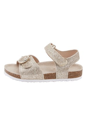 GOLD GLITTER CORKBED BUCKLE - Baby shoes - gold