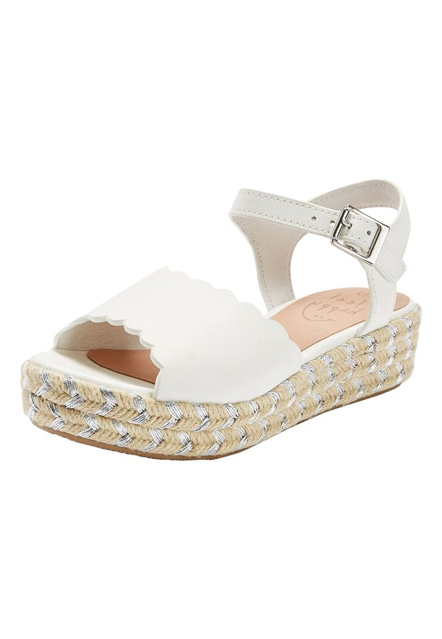 PINK LEATHER WEDGE SANDALS (OLDER) - Espadrilles - white