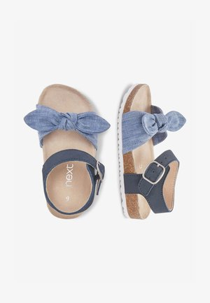 BLUE CORKBED BOW SANDALS (YOUNGER) - Babyschoenen - blue