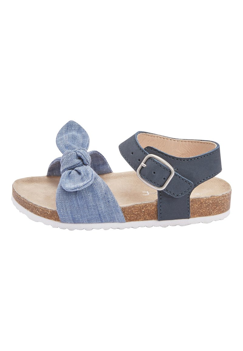 Next - BLUE CORKBED BOW SANDALS (YOUNGER) - Baby shoes - blue