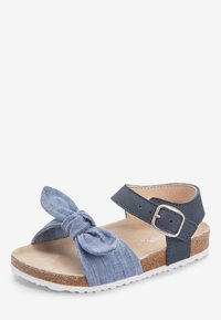 Next - BLUE CORKBED BOW SANDALS (YOUNGER) - Baby shoes - blue - 2