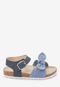 Next - BLUE CORKBED BOW SANDALS (YOUNGER) - Baby shoes - blue - 4