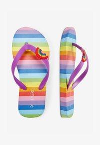 Next - RAINBOW STRIPE FLIP FLOPS (OLDER) - T-bar sandals - pink - 1
