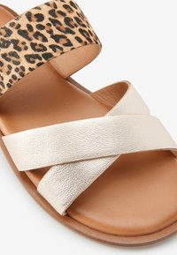 Next - PINK/ ZEBRA CROSS STRAP SANDALS (OLDER) - Sandals - gold - 4