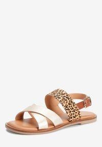 Next - PINK/ ZEBRA CROSS STRAP SANDALS (OLDER) - Sandals - gold - 2