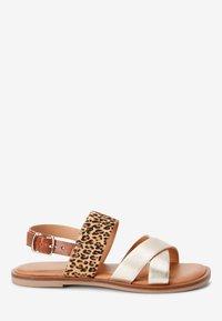 Next - PINK/ ZEBRA CROSS STRAP SANDALS (OLDER) - Sandals - gold - 3