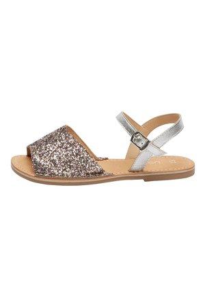 Sandals - metallic grey