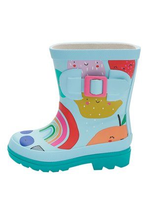 PINK PRINTED BUCKLE WELLIES (YOUNGER) - Bottes en caoutchouc - blue