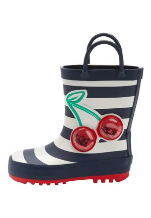 NAVY STRIPE CHERRY HANDLE WELLIES (YOUNGER) - Bottes en caoutchouc - blue