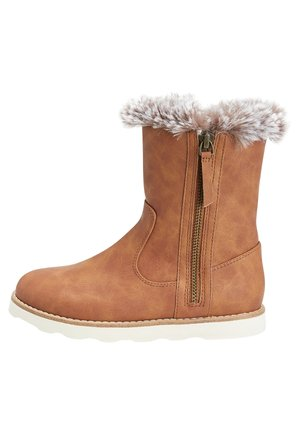 FAUX FUR TRIM BOOTS (OLDER) - Winter boots - brown