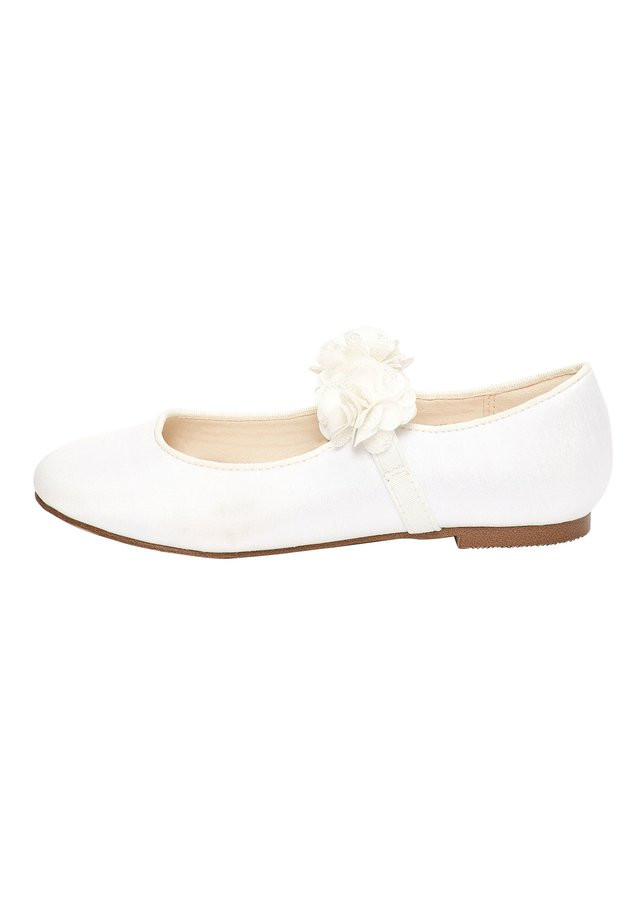 PINK 3D FLOWER BALLET SHOES (OLDER) - Ankle strap ballet pumps - white