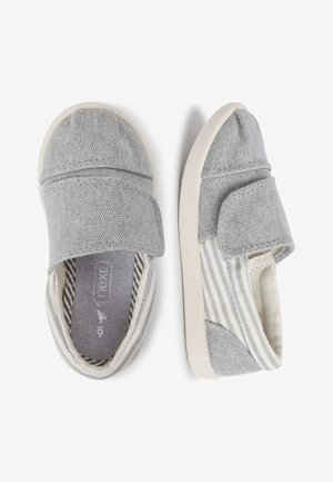 GREY ESPADRILLES (YOUNGER) - Touch-strap shoes - grey