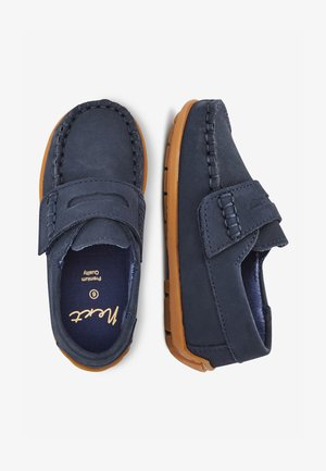 NAVY NUBUCK PENNY LOAFERS (YOUNGER) - Mocassins - blue