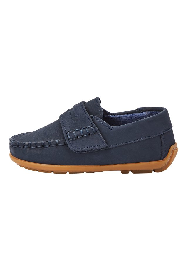NAVY NUBUCK PENNY LOAFERS (YOUNGER) - Mockasiner - blue
