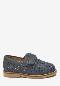 Next - NAVY LEATHER WOVEN LOAFERS (YOUNGER) - Loafers - blue - 3
