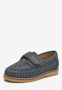Next - NAVY LEATHER WOVEN LOAFERS (YOUNGER) - Loafers - blue - 2