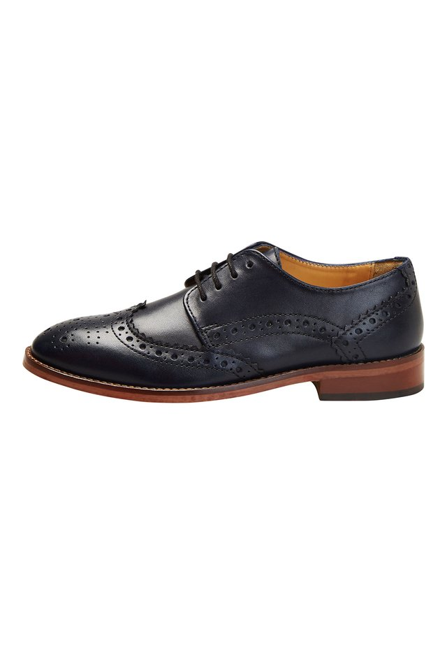 TAN LEATHER BROGUES (OLDER) - Lace-ups - blue