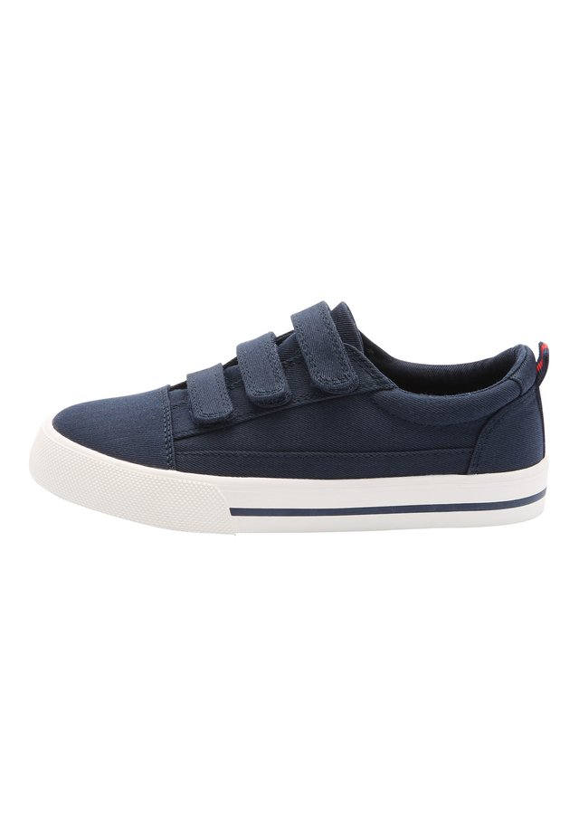 WHITE STRAP TOUCH FASTENING SHOES (OLDER) - Baskets basses - blue