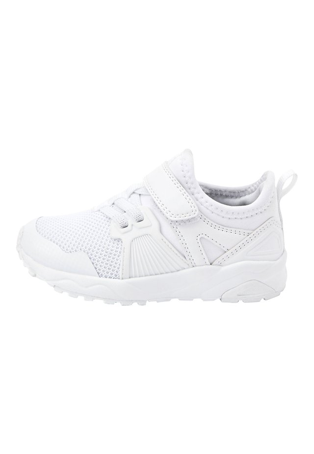 NAVY ELASTIC LACE TRAINERS (OLDER) - Sneakers - white