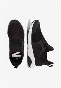 Next - NAVY ELASTIC LACE TRAINERS (OLDER) - Tenisky - black - 1