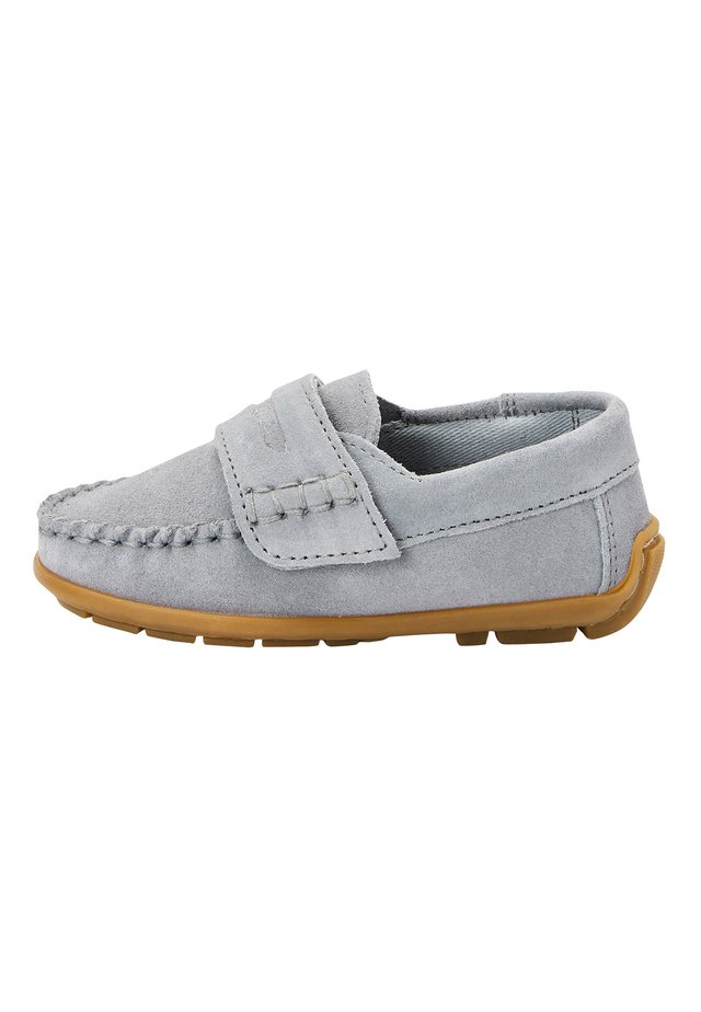 GREY LEATHER PENNY LOAFERS (YOUNGER) - Mokkasiner - grey