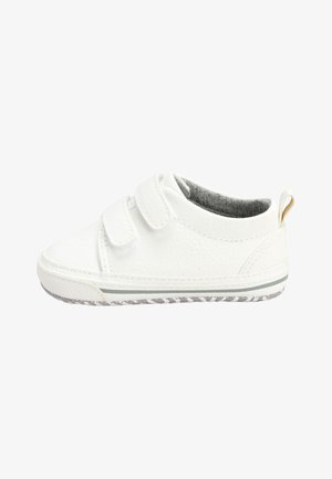 NAVY TWO STRAP PRAM SHOES  - Trainers - white
