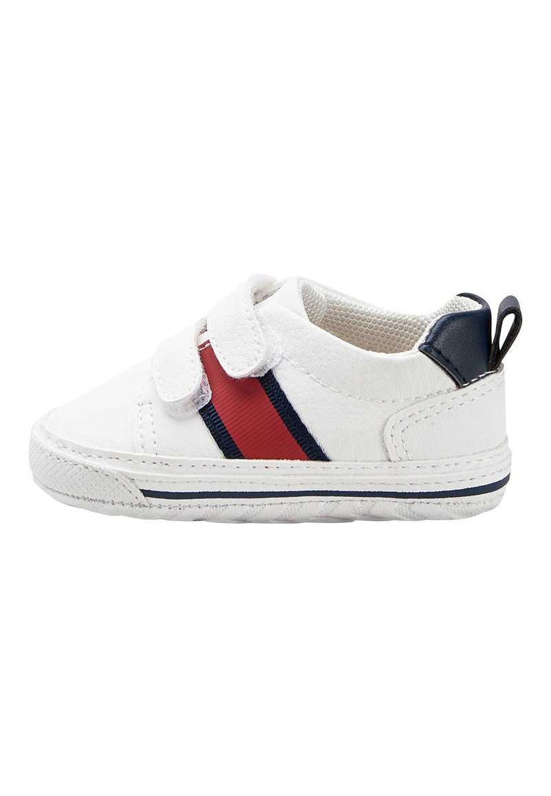 Next - WHITE DOUBLE STRAP TAPE PRAM SHOES (0-24MTHS) - First shoes - white