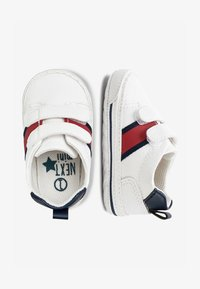 Next - WHITE DOUBLE STRAP TAPE PRAM SHOES (0-24MTHS) - First shoes - white - 1