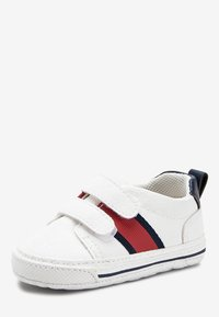 Next - WHITE DOUBLE STRAP TAPE PRAM SHOES (0-24MTHS) - First shoes - white - 2