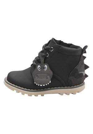 BLACK DINOSAUR LACE-UP BOOTS (YOUNGER) - Veterboots - black