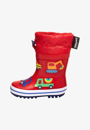 "RED TRANSPORT THINSULATEÂ""¢ CUFF WELLIES (YOUNGER) - Bottes en caoutchouc - red"