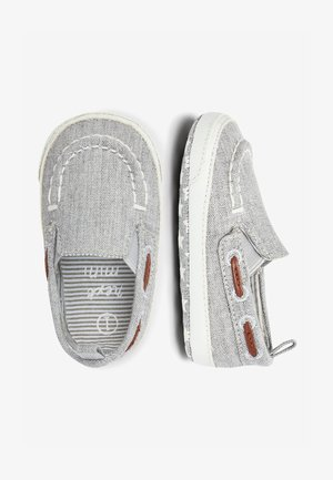 GREY PRAM SLIP-ON BOAT SHOES (0-24MTHS) - Boat shoes - grey
