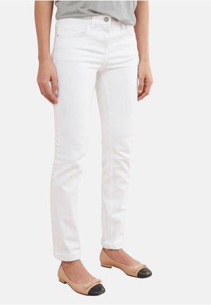 Jean droit - white