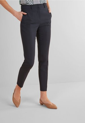 SLIM TROUSERS - Tygbyxor - blue