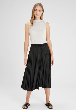 PINK PLEAT SKIRT - Gonna a pieghe - black