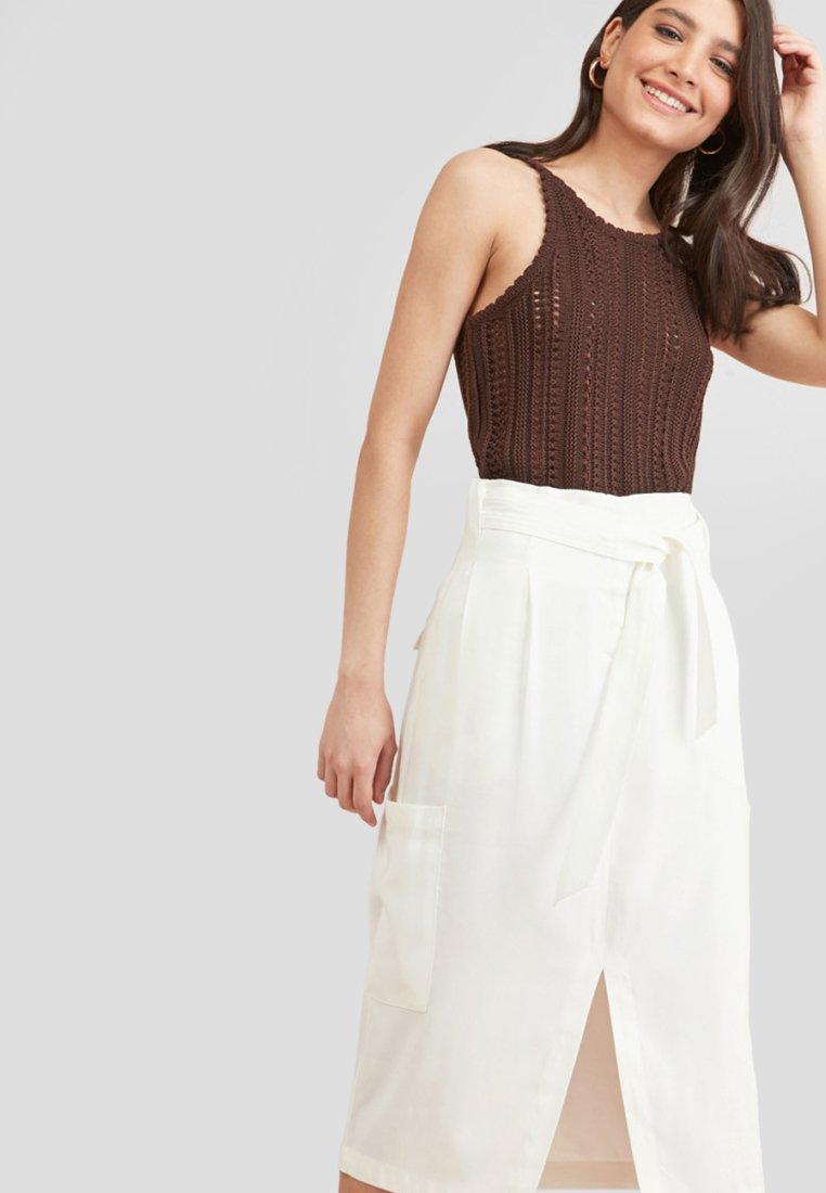 Next - SOFT UTILITY  - A-line skirt - off-white