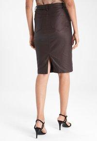 Next - Pencil skirt - dark brown - 1
